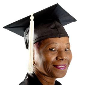 Mature African-American College Graduate