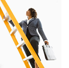 Gender Wage Gap Woman Climbing Ladder